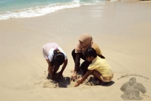 main pasir (action doang haha)