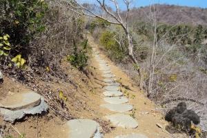 jalan setapak menuju berugak